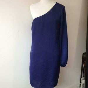 Foreign Exchange silky blue royal dress
